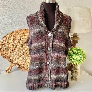 Woolrich Kendal Creek cardigan vest gray